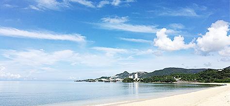 沖縄名護市の海 ホテルヤンバルニア
